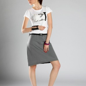 Grunger•dress in white and gray