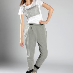Techno time •  trousers in gray