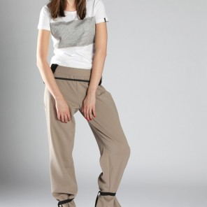 Techno time•trousers with ribbing