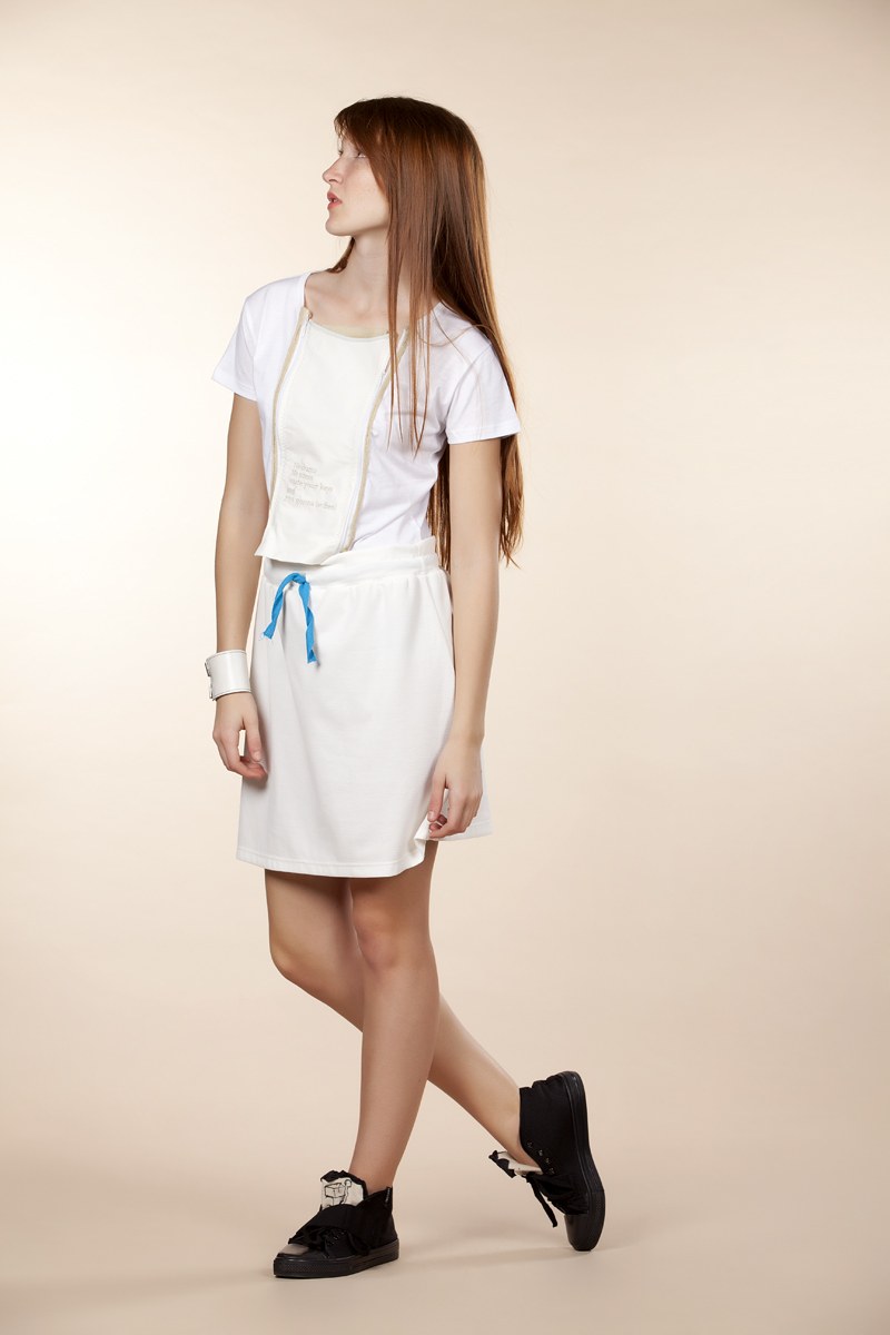 White beat dress