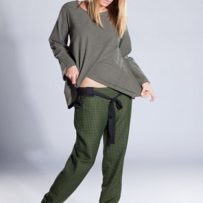 GREEN/BLACK TROUSERS