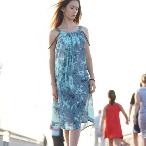 BLUE A DRESS